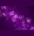 abstract dark purple low poly crystal background vector image vector image
