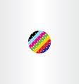 abstract globe circle data information colorful vector image vector image