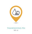 apple grapes and pear mapping pin icon harvest vector image vector image