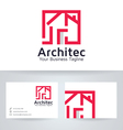 Architect House logo with business card tem vector image vector image