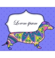 Background with dachshund vector image vector image