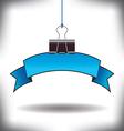 Banner Binder clip vector image vector image