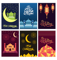 Beautiful color Eid Mubarak card design vector image