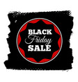 black friday sale banner insignia or logotype of vector image vector image