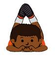 black little boy lying character vector image vector image
