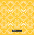 bright yellow abstract pattern background vector image vector image