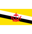 Bruneian flag vector image vector image