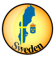 button Sweden vector image vector image