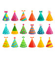 cartoon birthday party caps funny celebration cap vector image vector image