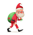 cartoon vintage walk tired sad weary santa claus vector image vector image