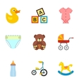 Child icons set flat style vector image vector image