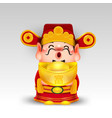 chinese new year2019 chinese god of wealth with vector image vector image