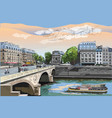 colorful hand drawing paris 7 vector image vector image
