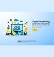 concept for digital marketing agency digital vector image vector image