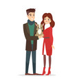 couple young people vector image vector image