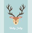 cute christmas reindeer greeting card vector image vector image