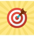 Darts target concept in flat style vector image