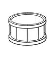 doodle classic drum vector image vector image