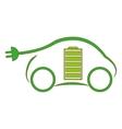 eco friendly car design vector image