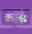 egg hunt to win banner template vector image