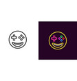emoji gamer emoji player vector image