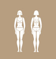 figure woman in underwear isolated vector image vector image