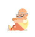fitness healthy activities grandfather adult old vector image