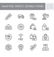 free label line icons vector image
