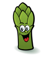 happy asparagus character vector image vector image