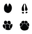 horse hippopotamus deer elephant footprint vector image