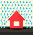 House in Rain Flat Design vector image