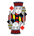 Jack of Diamonds no card vector image vector image