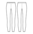 leggings pants fashion flat sketch template vector image vector image