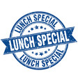 lunch special round grunge ribbon stamp vector image vector image
