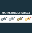 marketing strategy icon set four elements in vector image vector image
