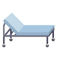medical couch special bed on vector image vector image