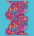 mehndi ribbon paisley design vector image