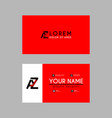 modern creative business card template with az vector image vector image