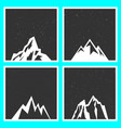 mountain silhouette for stickers badges stamps vector image vector image