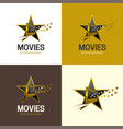 movies and entertainment logo and icon