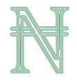 naira nigeria currency symbol icon striped vector image vector image