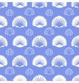 Ocean seamless pattern with sea shells vector image