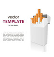 open full pack of cigarettes isolated vector image