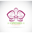orchid logo on a white background flower vector image vector image