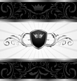 ornate dark decorative frame vector image vector image