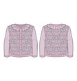 pink knitted jacquard cardigan for a toddler girl vector image vector image