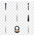 realistic make-up product brush contour style vector image vector image