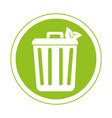 recycle bin ecology symbol icon vector image