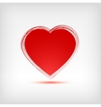 Red heart shape on white background vector image vector image