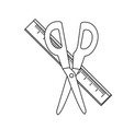 scissor and ruler design vector image